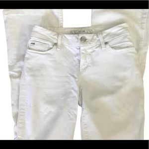 White Flared  joes jeans in the honey style